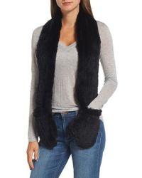 Love Token | Genuine Rabbit Fur Scarf With Built-in Mittens | Lyst