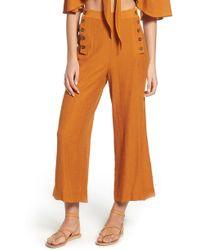 The East Order Amelie Wide Leg Pants - Orange