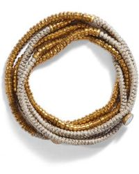 Serefina - Beaded Wrap Bracelet - Lyst