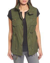 Pleione Cotton Twill Military Vest - Green