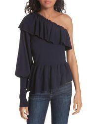 Ulla Johnson - Eden Cotton & Cashmere One Shoulder Sweater - Lyst