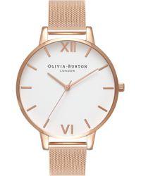 Olivia Burton - 'big Dial' Mesh Strap Watch - Lyst