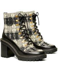 Tory Burch - Miller Wool Lug Sole Boot - Lyst