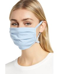 Nordstrom 4-pack Adult Pleated Face Masks, None - Blue