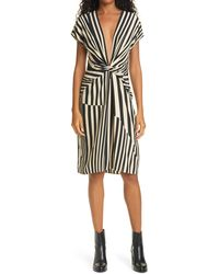 Rag & Bone Beatrice Stripe Silk Dress - Multicolor