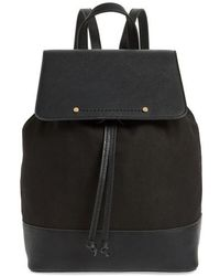 Sole Society - Canvas & Faux Leather Backpack - Lyst