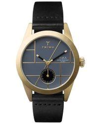 Triwa - Aska Leather Strap Watch - Lyst