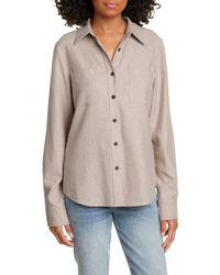 Jenni Kayne Double Pocket Cotton Button-up Shirt - Natural