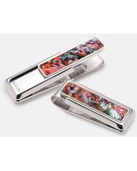 M-clip | M-clip Mother Of Pearl Inlay Money Clip - Metallic | Lyst