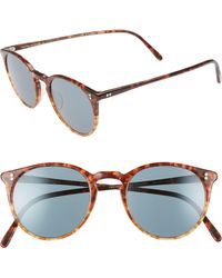 ffe3319cd5f9 Lyst - Oliver Peoples Tortoiseshell The Row Edition O malley Nyc ...
