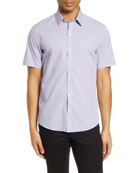 Zachary Prell Huang Classic Fit Short Sleeve Button-up Shirt - Multicolor