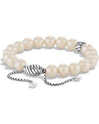 David Yurman - 'spiritual Beads' Bracelet With Pearls - Lyst