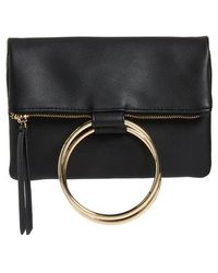Chelsea28 - Skyler Faux Leather Foldover Clutch - - Lyst