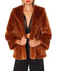 Amuse Society - Furever Mine Faux Fur Jacket - Lyst