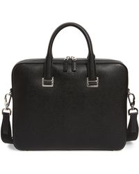 Dunhill Cadogan Leather Single Document Case - Black