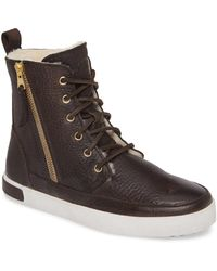 Blackstone - 'cw96' Genuine Shearling Lined Sneaker Boot - Lyst