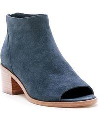 Sole Society Tabbie Peep Toe Sandal - Blue