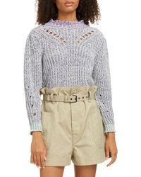 Étoile Isabel Marant Lotiya Cotton Blend Sweater - Gray