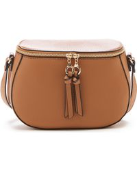 Sole Society Deana Faux Leather Crossbody Bag - Brown