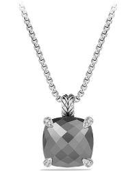 David Yurman 'châtelaine' Pendant Necklace With Semiprecious Stone And Diamonds - Metallic