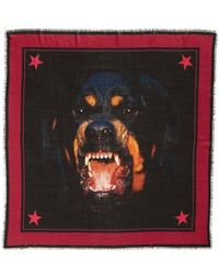 Givenchy | Rottweiler Wool & Silk Square Scarf | Lyst