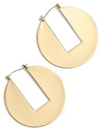 J.Crew | J.crew Cutout Disc Earrings | Lyst