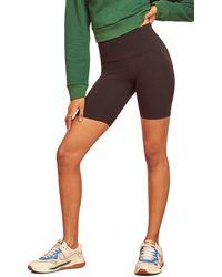 Reformation Court High Waist Bike Shorts - Black
