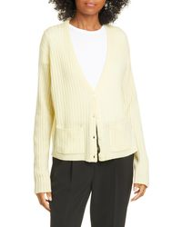 ATM Ribbed Cashmere Cardigan - Yellow