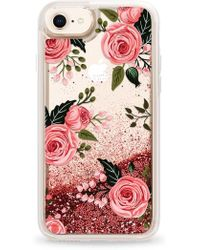Casetify - Pink Glitter Flowers Iphone 7/8 & 7/8 Plus Case - - Lyst