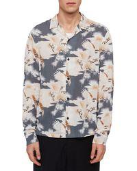 AllSaints - Talon Slim Fit Button-up Shirt - Lyst