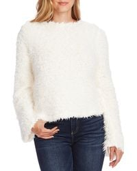 Vince Camuto - Bell Sleeve Textured Faux Fur Top - Lyst
