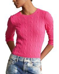 Polo Ralph Lauren - Julianna Cable Knit Cashmere Sweater - Lyst