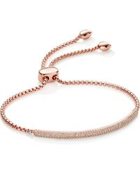 Monica Vinader - 'stellar' Diamond Mini Bar Bracelet - Lyst