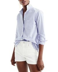 J.Crew | J.crew Oversize Boy Button-up Shirt | Lyst