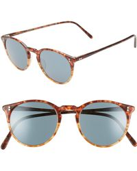 Oliver Peoples - O'malley 48mm Photochromic Round Sunglasses - Vintage Tortoise - Lyst