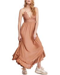 Free People Adella Maxi Dress - Orange