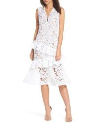 Bronx and Banco - Donna Ruffle Lace Midi Dress - Lyst