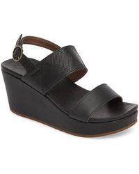 Olukai Keha Platform Wedge Sandal - Black
