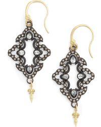 Armenta Arementa Old World Open Scroll Drop Earrings - Black