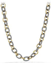 David Yurman 'oval' Large Link Necklace With Gold - Metallic