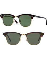 Ray-Ban - Standard Clubmaster 51mm Sunglasses - Dark Tortoise - Lyst