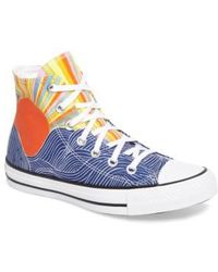 Converse - X Mara Hoffman All Star Embroidered High Top Sneaker - Lyst