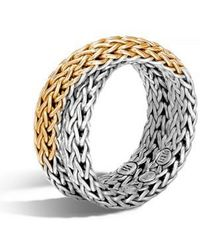 John Hardy | 'classic Chain' Overlap Ring | Lyst