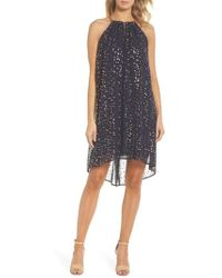 MICHAEL Michael Kors - Chain Halter Trapeze Dress - Lyst