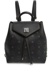 MCM - Essential Visetos Original Small Backpack - Lyst