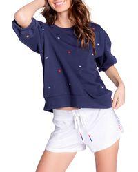 Pj Salvage Stripe Lounge Shorts - Blue