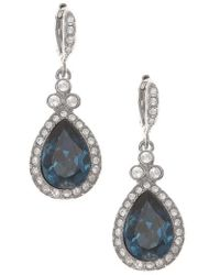 Givenchy   Pave Drop Earrings   Lyst
