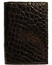 Boconi | Crocodile Card Case | Lyst