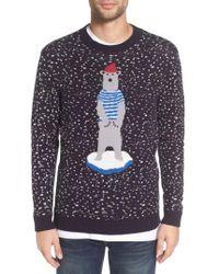 Altru - 'polar Ice Caps' Intarsia Crewneck Sweater - Lyst
