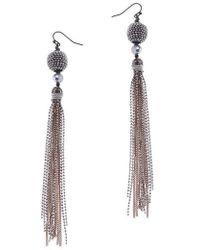 Nakamol - Chain Tassel Earrings - Lyst
